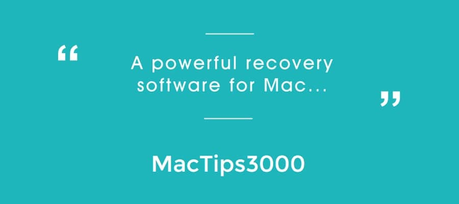 Mac Tips 3000 Qoutes for Data Recovery